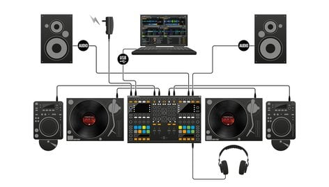Native Instruments Traktor Kontrol S8 All-In-One DJ Controller System with Traktor Scratch Pro 2 TRAKTOR-KONTROL-S8