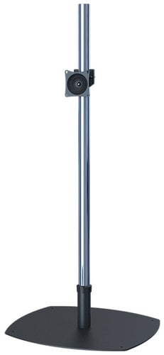 "Premier Mounts PSP-60  Low-Profile Single-Pole Floor Stand with 60"" Chrome Pole and VPM PSP-60"
