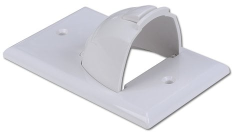 Intelix UWGS0000-WH Bulk Single Gang Format Wire Plate with Reversible Nose in White UWGS0000-WH