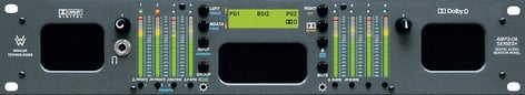 Wohler AMP2-D8-MDA 2U Rackmount 8-Channel Audio Monitor with 3G/HD/SD-SDI, Dolby AC-3 and AES Inputs AMP2-D8MDA-3G