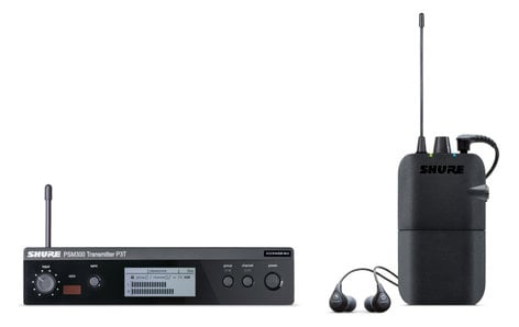 Shure P3TR112GR-G20 PSM 300 Wireless In-Ear Monitor System With P3R Bodypack Receiver, And SE112-GR Earphones P3TR112GR