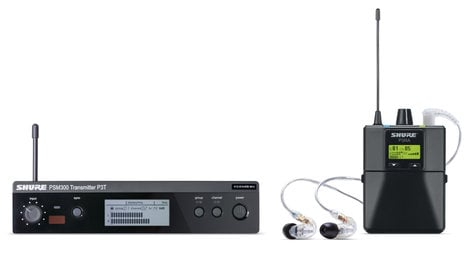 Shure P3TRA215CL PSM®300 Series Wireless In-Ear Monitor System with SE215-CL Earphones P3TRA215CL