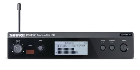 Shure P3T PSM®300 Series Half-Rack Single Channel Wireless Transmitter P3T