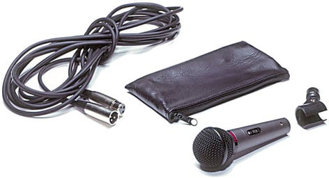 Fender P-52S Cardioid Dynamic Microphone with Cable, Stand Clip, Pouch P52S-MIC-KIT