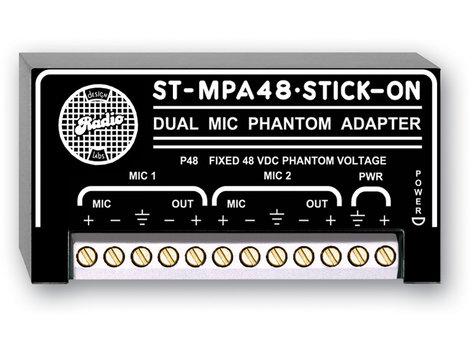 Radio Design Labs ST-MPA48  Stick-On Dual Channel Microphone Phantom Power Adapter ST-MPA48