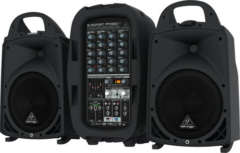 Behringer EUROPORT PPA500BT 500 Watt 6-Channel Compact Portable PA System with Bluetooth PPA500BT