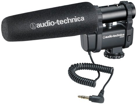 Audio-Technica AT8024 Stereo / Mono Camera-Mount Shotgun Microphone AT8024