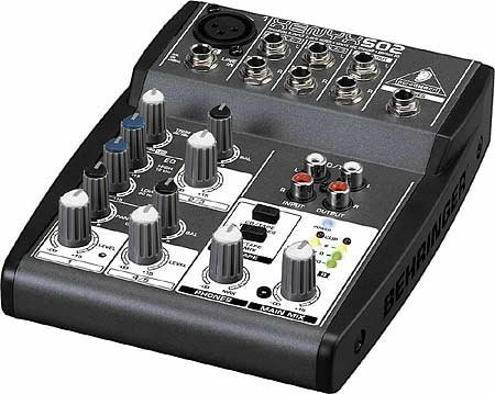 Behringer XENYX-502 Mixer, 5-Input (1 mic, 2 stereo) 2-Bus with Rotary Control XENYX-502
