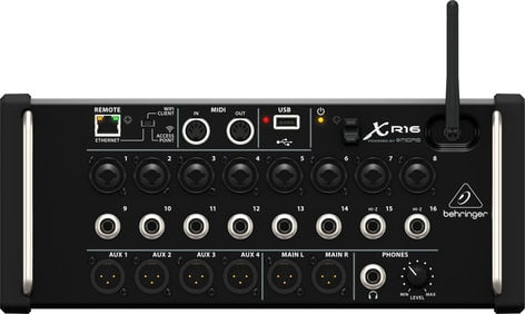 Behringer X AIR XR16 Rackmountable 16-Channel Digital Mixer for iPad/Android Tablets with 8 MIDAS Preamplifiers and Integrated WiFi XR16