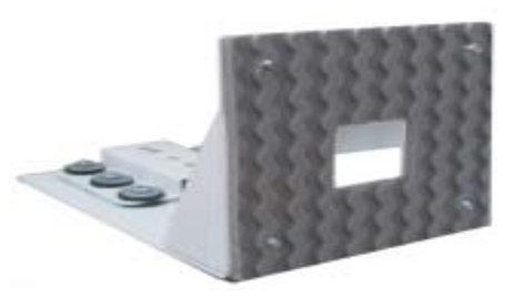 Nigel B Design NB-AVCB-W Universal Anti-Vibration Wall Mount in White NB-AVCB-W
