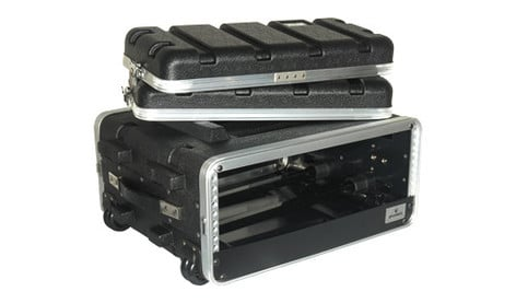 Grundorf Corp ABS-R0416C  3 Space Amp Rack with Handle and Casters ABS-R0416C