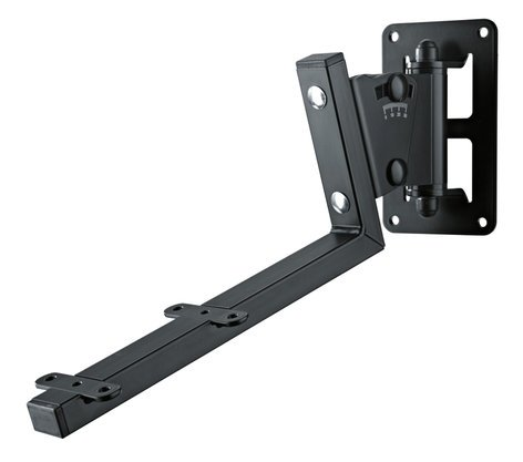 K&M Stands 24484  Black Speaker Wall Mount for JBL LSR Series Speaker Models 24484
