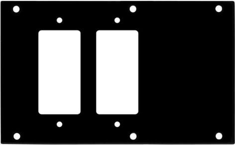 Ace Backstage Co. PNL-1227  Connectrix Aluminum Pocket Panel with 2 Decora Cutouts PNL-1227