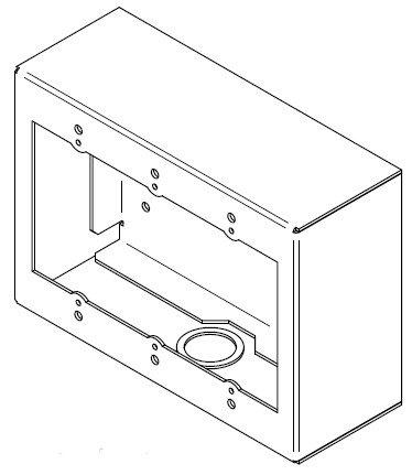 FSR SMWB-3G-WHT 3 Gang Surface Mount Wall Box in White SMWB-3G-WHT
