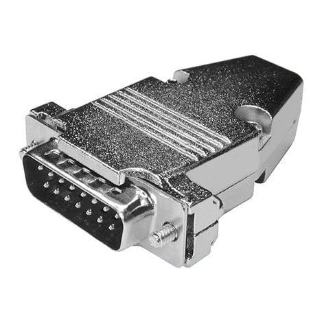 BTX Technologies CD-DB15M  D-Sub 15-Pin Connector with Metal Hood CD-DB15M