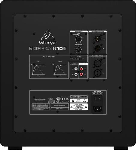 """Behringer NEKKST K10S 10"""" 300 Watt Active Subwoofer K10S"""