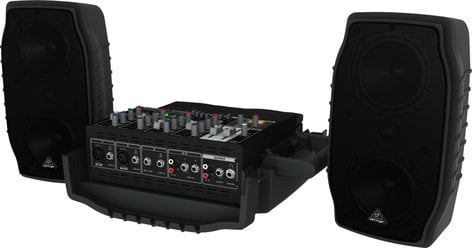 Behringer EUROPORT PPA200 5-Channel 200 Watt Compact Portable PA System with Wireless Expandability and Multi-FX Processor PPA200