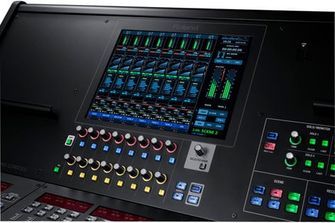 Roland System Group M-5000 24-bit/96 kHz Digital Live Mixing Console with OHRCA, Touchscreen Control and USB Audio Interface M-5000