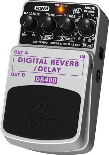 Behringer Digital Reverb/Delay DR400 Digital Stereo Reverb/Delay Effects Pedal DR400-BEHRINGER