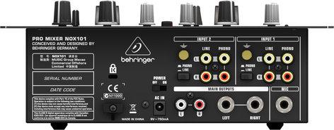 Behringer Pro Mixer NOX101 2-Channel DJ Mixer with Full VCA Control NOX101