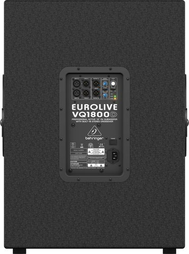 "Behringer EUROLIVE VQ1800D 18"" 500 Watt Active Subwoofer with Onboard Stereo Crossover VQ1800D"