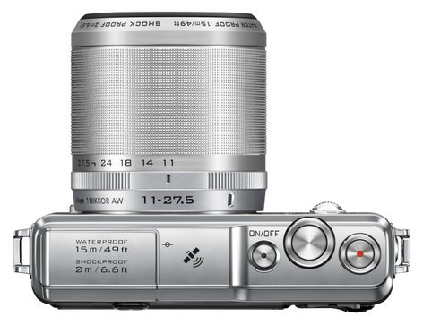Nikon 27666 14.2 MP 1 AW1 Camera in Silver with NIKKOR AW 11-27.5mm f/3.5-5.6 Zoom Lens 27666