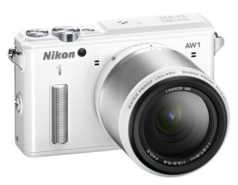 Nikon 27669 14.2 MP 1 AW1 Camera in White with NIKKOR AW 11-27.5mm f/3.5-5.6 Zoom Lens 27669