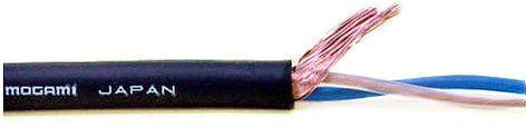 Mogami W2549 656 Black Wire Mic Cable 22g 2c 656ft W2549-656-BLACK