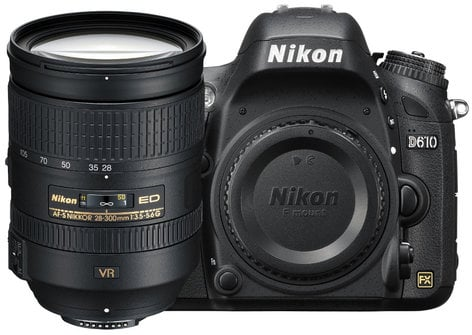 Nikon 13304 D610 DSLR Camera Kit with AF-S NIKKOR 28-300mm VR Lens 13304