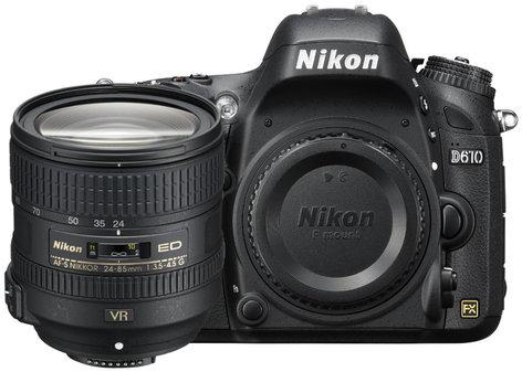 Nikon 13305 24.3MP D610 DSLR Camera Kit with AF-S NIKKOR 24–85mm VR Lens 13305-NIKON