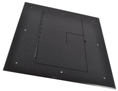 FSR, Inc FL-640P-BLK-C  Floor Box Cover in Black Sandtex with Hinged Lid, without Carpet Flange FL-640P-BLK-C