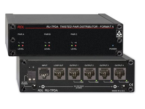 RDL RU-TPDA  4 Output Signal and Power Distributor Module for RDL Format-A Twisted Pair Products RU-TPDA