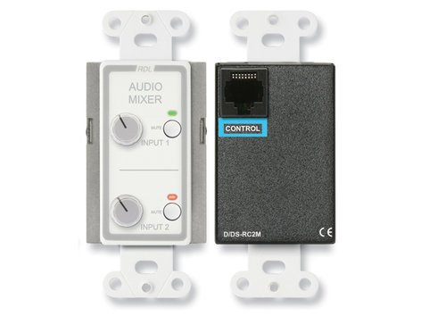 Radio Design Labs D-RC2M  D-Series Two Source Remote Audio Mixing Control with Muting D-RC2M