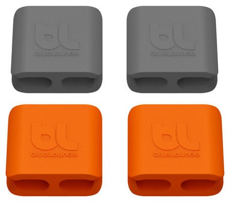 RadTech 15207 4 Pack of Orange and Gray Medium Size bluelounge CableClips 15207-RADTECH
