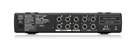 Behringer MINIAMP AMP800 Compact 4-Channel Stereo Headphone Amplifier AMP800-MINI-AMP