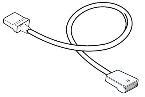 Philips Color Kinetics 108-000048-00 1 Ft White UL-listed Jumper Cable for eW Cove MX and Fuse Powercore 108-000048-00
