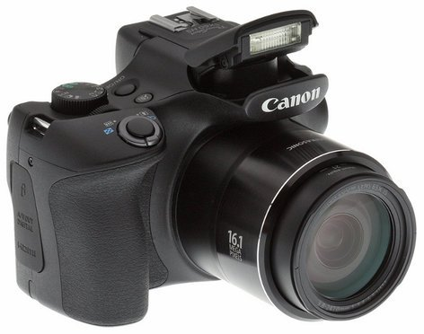 Canon PowerShot SX60 HS 16.1 MP 65x Optical Zoom DSLR Camera in Black POWERSHOT-SX60-HS-KT