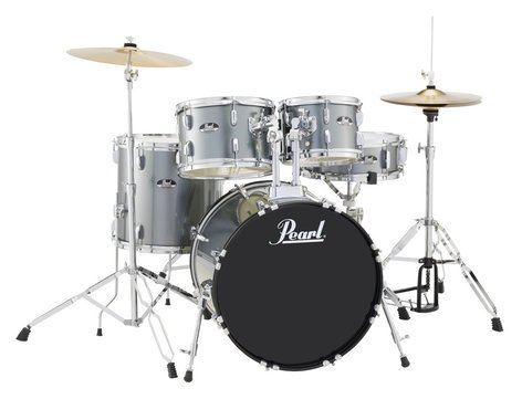 Pearl Drums RS505C 5-Piece Drum Set in Charcoal Metallic with Cymbals and Hardware RS505C/C706