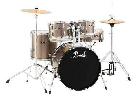 Pearl Drums RS505C/C707 5-Piece Drum Set in Bronze Metallic with Cymbals and Hardware RS505C/C707