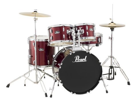 Pearl Drums RS505C/C91 5-Piece Drum Set in Wine Red with Cymbals and Hardware RS505C/C91