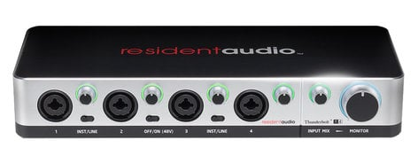 Resident Audio T4 4-Channel Bus Powered Thunderbolt Interface T4