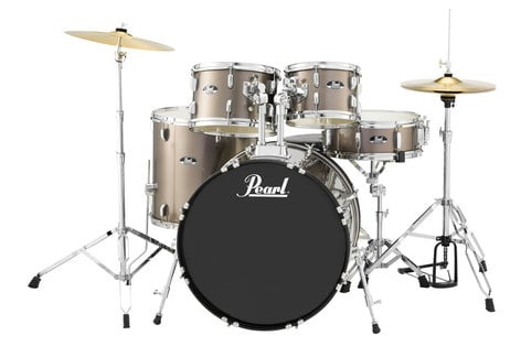 Pearl Drums RS525SC/C707 5-Piece Drum Set in Bronze Metallic with Cymbals and Hardware RS525SC/C707
