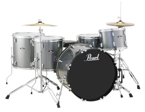 Pearl Drums RS525WFC/C706 5-Piece Drum Set in Charcoal Metallic with Cymbals and Hardware RS525WFC/C706