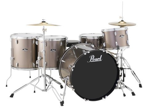 Pearl Drums RS525WFC/C707 5-Piece Drum Set in Bronze Metallic with Cymbals and Hardware RS525WFC/C707