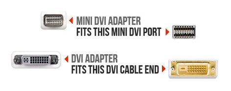 Newer Tech NWTCBLMDVIDVI Mini DVI to DVI Adapter NWTCBLMDVIDVI