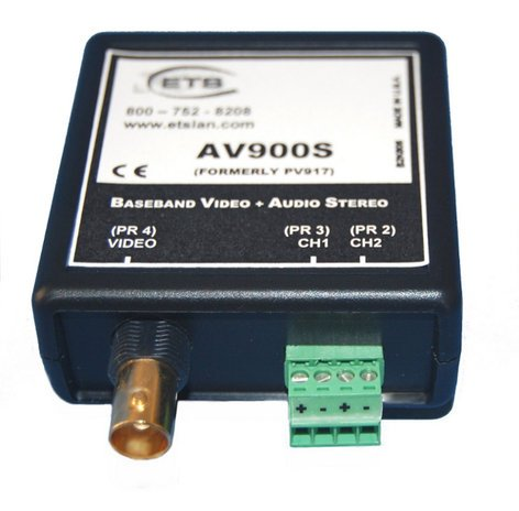 ETS AV900S-VSB Video/Stereo Balun with 1x Female BNC, Audio Screw Terminals, Audio to RJ45 Jack AV900S-VSB