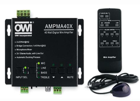 OWI Incorporated AMPMA40X  Digital Mini Mixer/Amplifier/EQ AMPMA40X