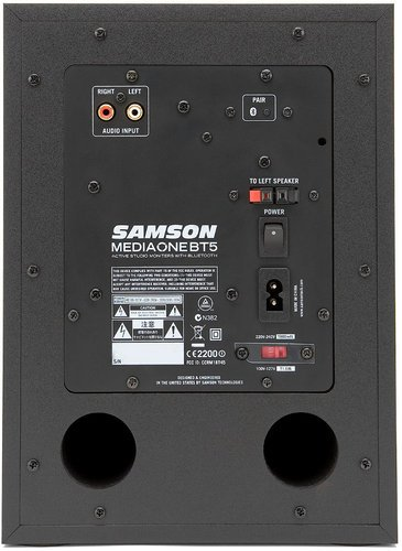 """Samson MediaOne BT5 2-Way Active Studio Monitors with 5"""" Woofers and Bluetooth MEDIAONE-BT5"""
