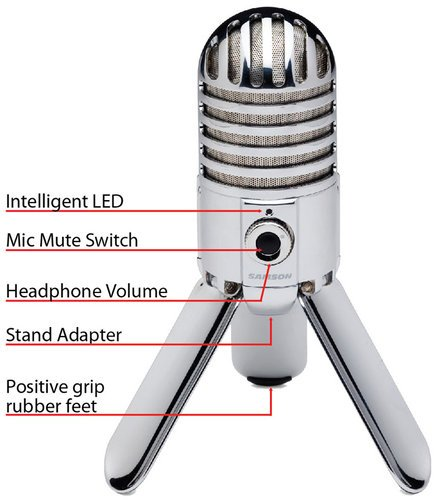 samson meteor mic usb studio cardioid condenser microphone full compass. Black Bedroom Furniture Sets. Home Design Ideas