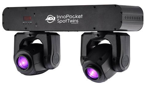 ADJ INNO-POCKET-SPOT-TWN Inno Pocket Spot Twins Compact Dual Moving Head Fixtures INNO-POCKET-SPOT-TWN